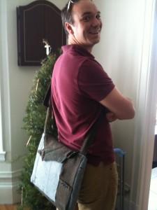 Nigel's suit courier bag