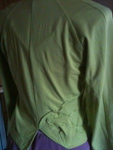 Back, recouture green jacket