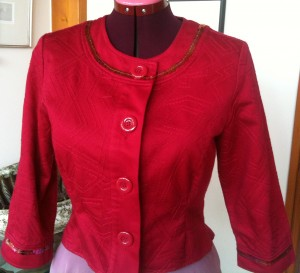 After - Cropped, tailored recouture bling jacket