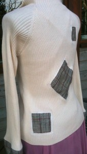 Back recoutured sweater-jacket