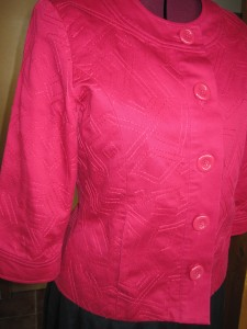Before - Precouture pink jacket