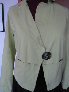 Before - Green cotton jacket pre-couture