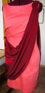 Silk chiffon-draped Calvin Klein