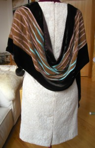 Back, velvet scarf recouture