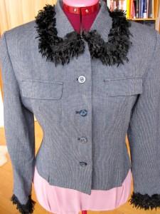 Fluffed Jacket collar & sleeves