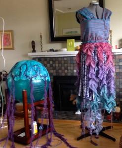 Jellyfish Dress and Headpiece