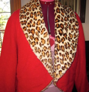 Circle jacket with Leopardskin lining